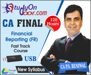 CA Final Financial Reporting (FR) Fast Track by CA PS Beniwal