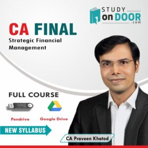 CA Final SFM by CA Praveen Khatod | Video Lecture | StudyOnDoor