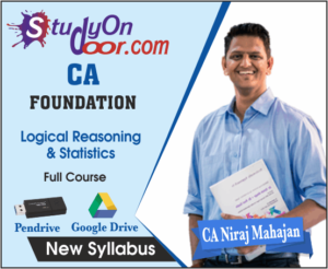 CA Foundation Logical Reasoning & Statistics Full Course New Syllabus by CA Niraj Mahajan