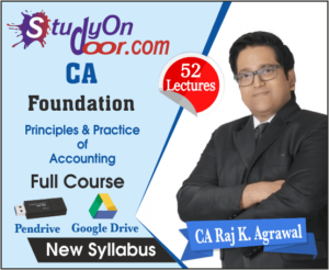 CA Foundation Principles & Practice of Accounting (P & PA) Full Course by CA Raj K Agrawal