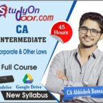 CA Intermediate Corporate & Other Laws Full Course New Syllabus by CA Abhishek Bansal