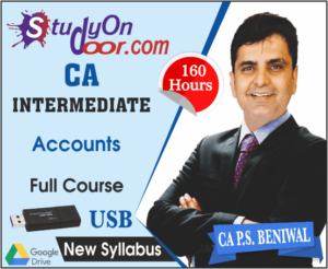 CA Intermediate Group 1 Accounting Full Course New Syllabus by PS Beniwal