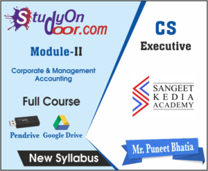 CS Executive (Module II) Corporate & Management Accounting by CS Puneet Bhatia