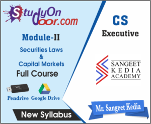 CS Executive Securities Laws & Capital Markets New Syllabus by CS Sangeet Kedia