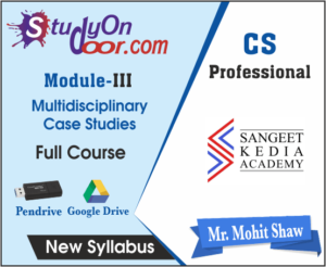 CS Professional Multidisciplinary Case Studies New Syllabus by CS Mohit Shaw