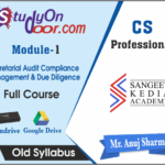 CS Professional Secretarial Audit Compliance Management & Due Diligence Old Syllabus by CS Anuj Sharma