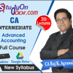 CA Intermediate Advance Accounts Full Course by CA Raj K Agrawal