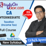 CA Intermediate Taxation (Income Tax) by CA Raj K Agrawal