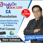 CA Foundation Business Mathematics, Logical Reasoning & Statistics Full Course by CA Raj K Agrawal