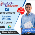 CA Intermediate Taxation (Tax) Full Course New Syllabus by CA Niraj Mahajan