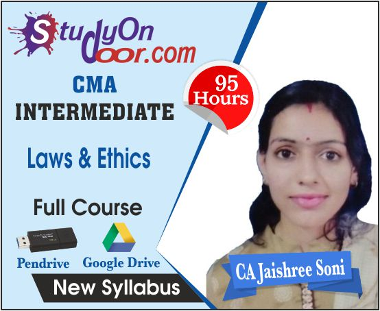 CMA Intermediate Paper 6 Laws and Ethics Full Course by CA Jaishree Soni