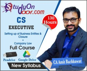 CS Executive Combo SB & EC + Company Law Full Course New Syllabus by CA Amit Bachhawat