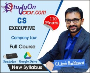 CS Executive Company Law Full Course New Syllabus by CA Amit Bachhawat