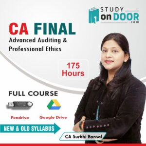 CA Final Advanced Auditing and Professional Ethics Full Course Old and New Syllabus by CA Surbhi Bansal