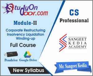 CS Professional Corporate Restructuring Insolvency Liquidation Winding up New Syllabus by CS Sangeet Kedia