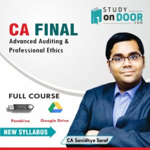 CA Final Advanced Auditing and Professional Ethics by CA Sanidhya Saraf