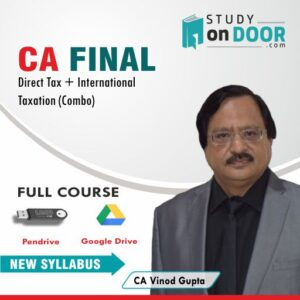 (Pre-Booking) CA Final Combo (DT+IT) by CA Vinod Gupta for May 2021 Exam & Onwards StudyOnDoor.com