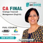 CA Final Strategic Financial Management (SFM) (English) by Prof Archana Khetan