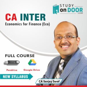 CA Intermediate Economics for Finance (Eco) by CA Sanjay Saraf