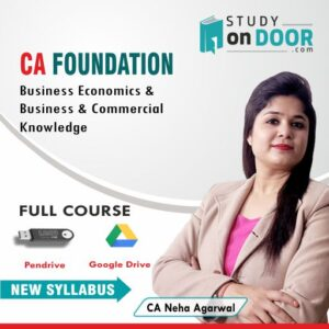 CA Foundation Business Economics and Business and Commercial Knowledge by CA Neha Agarwal