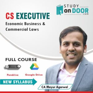 CS Executive Economic, Business & Commercial Laws (EBCL) by CA Mayur Agarwal