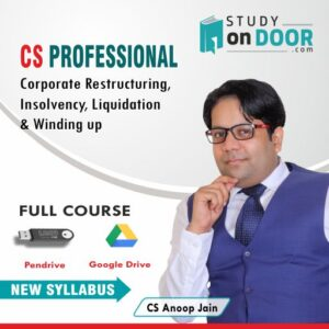 CS Professional Corporate Restructuring Insolvency Liquidation & Winding up by CS Anoop Jain