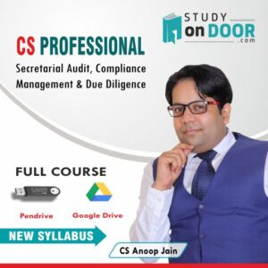 CS Professional Secretarial Audit Compliance Management & Due Diligence by CS Anoop Jain